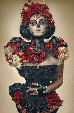 "From the book The Day of the Dead, El Dia de Los Muertos. Picture ""Summer Muertos"" by Gayla Partridge #TheDayoftheDead #ElDiadeLosMuertos"