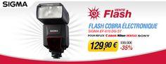 Vente flash Miss Numérique avec -35% sur le flash cobra Sigma EF-610 DG ST