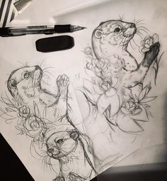 ✍✍✍ #otter #drawing #sketches #sketch #sketchbook #animaldrawing #illustration #art #essitattoo #tattoodesign #tattooidea #tattooart #tatuointitaide #tattoosketch #natureart #kuvitus #luonnos #sketch_daily #instaart #instaartist