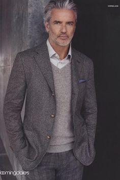 T.R. Pescod, Model | 21 Disgustingly Hot Silver Foxes That'll Make You Fall In Love With Gray Hair