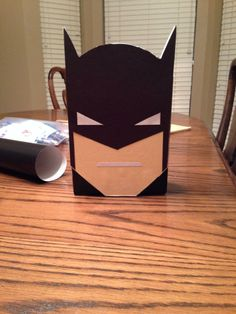 Gary Albritton helped his son, Ryan, create this Batman Valentine's Box to store the Valentine's Day cards he will receive at his party.  So cool!