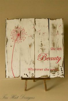 Hand painted pallet wood plaque