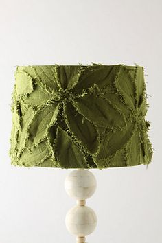 Anthro lamp shade $98 ...  I'm thinking it would make a fun item to recreate.  Yes?