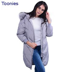 2017 NEW Winter Thick Warm Women Cotton Padded Hooded Long Coat //Price: $59.00 & FREE Shipping //     #hashtag4