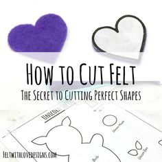 How to Cut Felt: The Secret to Cutting Perfect Felt Shapes Would you like the secret to consistently cutting perfect felt shapes? Learn how to cut felt into perfect shapes every time using this quick tutorial. Felt Crafts Patterns, Felt Crafts Diy, Felt Diy, Felt Board Patterns, Handmade Felt, Recycled Crafts, Fabric Crafts, Shape Templates, Felt Templates