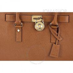 Michael Kors Hamilton Satchel Handbag In Luggage Tan Handbags