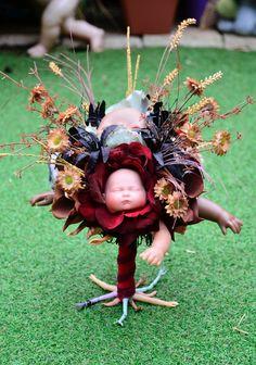 Another Creepy Dolls Head Bouquet Creepy Dolls, Doll Head, Garden Sculpture, Bouquet, Outdoor Decor, Bouquet Of Flowers, Bouquets, Floral Arrangements, Nosegay