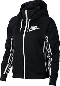 Nike women's sportswear full-zip tracksuit hoodie providing casual comfort with a throwback feel. E nike® sportswear tracksuit hoodie is constructed of soft&lightweight fabric. Rfect for layering when you Nike Outfits, Sport Outfits, Fitness Outfits, Full Zip Hoodie, Nike Sportswear, Nike Women, Nike Jackets For Women, Hoodies, Clothes For Women