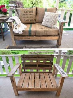 Lovin' this oversized Pallet Chair! DIY:: A Cool Pallet Wood Chair Anyone Can Make via – Funky Junk Interiors Lovin' this oversized Pallet Chair! DIY:: A Cool Pallet Wood…