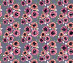 Eternal Flower Garden child / Anemone fabric by magentarosedesigns on Spoonflower - custom fabric