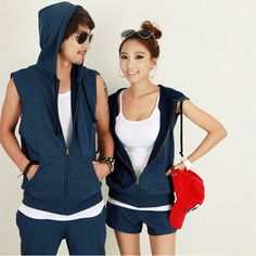 #Fashion #Lovers #Clothes #Zipper #Placket #Hooded #Short #Sleeves #Solid at www. cosmopolitus.com