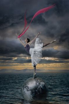 Only with dance can one fly with the wind