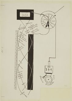Francis Picabia, Dada Movement 1919, ink on paper