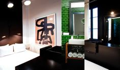 Hotel Praktik Rambla, Barcelona - I'm in love with the bold, clean colour scheme