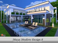 The Sims Resource: Maya Modern Design 8 by Autaki • Sims 4 Downloads