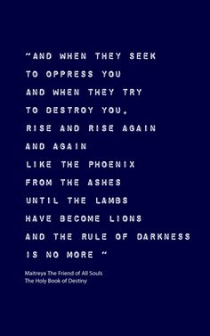 Rise and rise again, and again, until the lambs have become lions