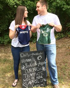 Football baby announcement!