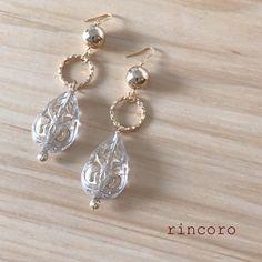 【送料無料】ゆらゆら揺れる雫×ゴールドのピアス/イヤリング Diy Earrings, Earrings Handmade, Handmade Jewelry, Pearl Earrings, Jewelry Box, Jewlery, Vintage Jewelry, Butterfly Jewelry, Baby Headbands