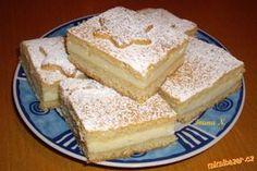 Tvarohový koláč tak trochu vánoční :-) Czech Desserts, Czech Recipes, Vanilla Cake, Cheesecake, Goodies, Food And Drink, Sweets, Tacos, Czech Food