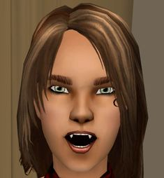 Mod The Sims - Resized Mesh: Smaller Vampire Fangs