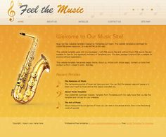 Feel the Music Website Template Music Website Templates, Music Sites, Listening To Music, Feelings, Free