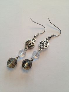 Smoky Quartz Bead Earrings by SharonKrug on Etsy, $14.95