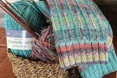 Rag Tube Sock Knitting Kit… Sock Knitting, Tube Socks, Fingerless Gloves, Arm Warmers, Gardens, Kit, Fashion, Tejidos, Projects