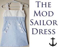 little one sailor dress tutorial