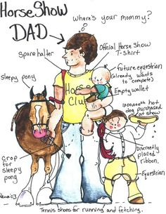 Horse Show Dad comic