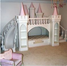 Princess Bed. What child wouldn't love a slide in their room!? :)