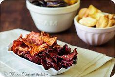 Rote und Ringelbeete-Chips