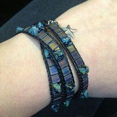 Black leather wrap. Wrap Bracelets, Black Leather, Jewelry, Fashion, Moda, Jewlery, Jewerly, Fashion Styles, Wire Wrap Bracelets