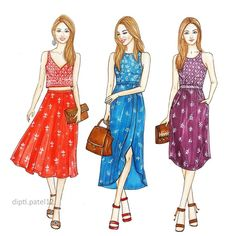 Image may contain: 3 people Fashion Design Sketchbook, Fashion Illustration Sketches, Fashion Design Drawings, Fashion Sketches, Dress Design Drawing, Dress Drawing, Fashion Figures, Fashion Models, Fashion Outfits