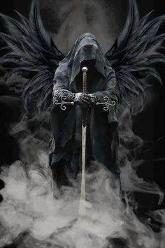 Resultado de imagem para tatuagem anjo da morte