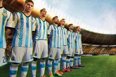Argentina 2014 World Cup Home and Away Kit Leaked. The new Argentina 2014 Home Kit comes with black Adidas stripes and a white short. Argentina 2014 World Cup Away Kit features gold applications. Time Da Argentina, Argentina World Cup, Brazil World Cup, World Cup 2014, Fifa World Cup, Argentina Football Team, Argentina Team, Messi Argentina, Argentina National Team