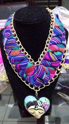 Collar cordón y cadena #artesaniasmexicanasdiy