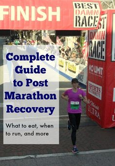 Your complete guide to post race recovery - should you get a massage? what to eat? when to run again?