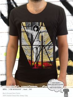 JIM MORRISON Men's t-shirt Concept Clothing, Jim Morrison, Mens Tees, Neck T Shirt, Size Chart, Scoop Neck, Colours, Cotton, Clothes