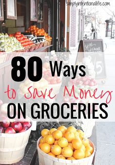 If you are looking for ways to grocery shop on a budget, this list is full of tips to save money on groceries.  Click through to start saving!