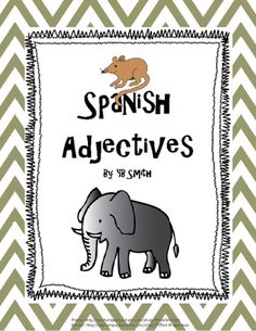 Spanish Ser Adjective PICTURE Notes SET from Spanish the easy way! on TeachersNotebook.com -  (7 pages)  - Notes and quiz in one package!  No more translation... let the students visualize the vocabulary! Make Spanish more enjoyable by using pictures to teach and reinforce the language.  This set contains all of the basic adjectives taught in level 1 Spanish i