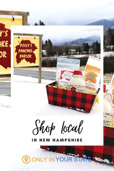 This Christmas, shop local and support area businesses in New Hampshire. These local businesses allow you to shop for holiday gifts online and they deliver! Find the perfect present, from candy to syrup and other food treats. Holiday Fun, Holiday Gifts, Santa Express, Christmas Light Displays, Fun Days Out, Chocolate Shop, Shop Local, Festival Decorations, Online Gifts