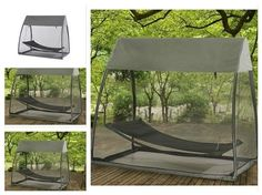Portable-Hammock-Tent-Camping-Equipment-Patio-Outdoor-Stand-Swing-Netting-Nylon