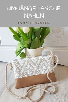 Sewing pattern bag Nicky- Schnittmuster Tasche Nicky Sew shoulder bag and clutch Nicky # Nähanleitung - Bag Sewing Pattern, Bag Patterns To Sew, Crochet Blanket Patterns, Sewing Patterns, Sewing Projects For Beginners, Sewing Tutorials, Sewing Tips, Macrame Patterns, Handmade Bags
