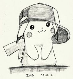 Cute pikachu drawings in pencil. Pencil Drawings Tumblr, Sad Drawings, Cool Art Drawings, Art Drawings Sketches, Disney Drawings, Animal Drawings, Easy Pokemon Drawings, Drawing Ideas, Simple Pencil Drawings Images