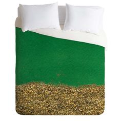 Social Proper Dipped In Gold Emerald Duvet Cover | DENY Designs Home Accessories