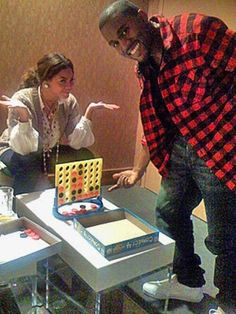 true story: one time kanye west played beyonce in connect 4 and won. this is real life.