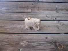 Pendant Necklace 3D Elephant from Deer Antler Carved with Silver 925_x887