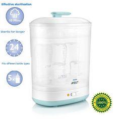 Baby Bottles Steriliser Philips Infant 2-In-1 Electric Steam Hygiene Cleaner New