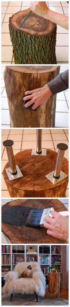 Maak je eigen houten bijzettafel ♡