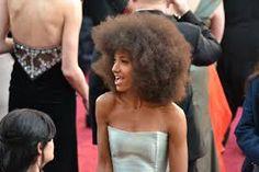 On the red carpet at the Academy Awards: photos by Jamie Millard Esperanza Spalding Esperanza Spalding, Red Carpet, Strapless Dress, Hair Color, Movies, Oscars, Dresses, Women, Music